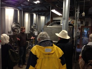 Brewery tour with owner/brewer Nate Schons at Island Hoppin' Brewery
