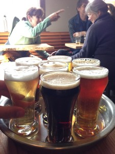 Tasters at Island Hoppin' Brewery in Eastsound on Orcas Island