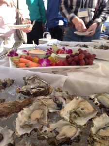 Fresh-shucked oysters, which we paired with Reuben's Gose and American Brewing Oatmeal Stout