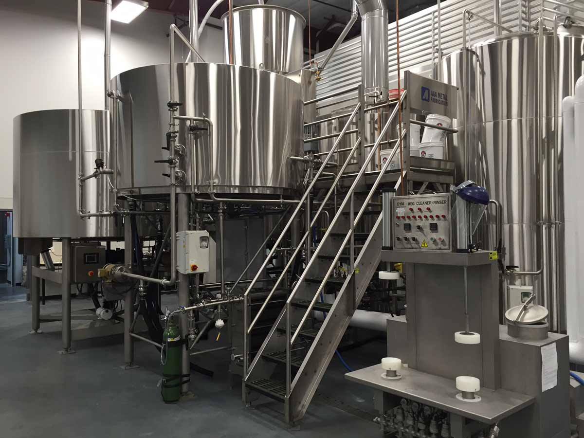 30-barrel brewhouse.