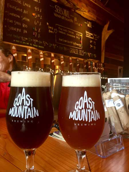 Photo from my last visit to Coast Mountain Brewing.