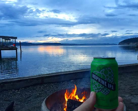 I #drinkWABeer because it makes a sunset on Sequim Bay so much more beautiful.