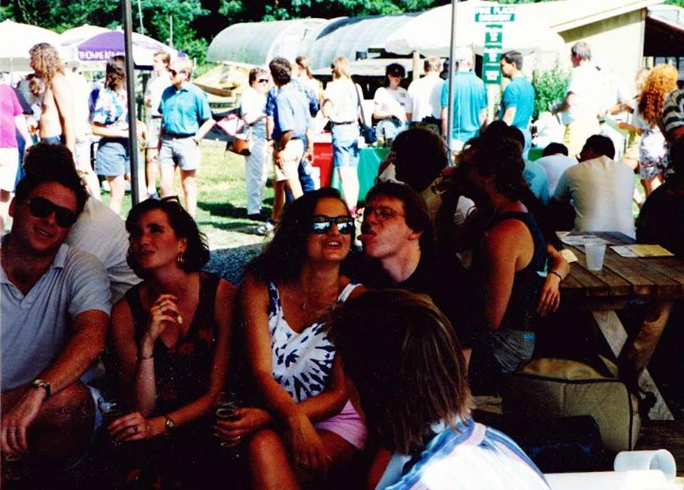 My crew hanging at the herb farm. Beer festival in 1995.