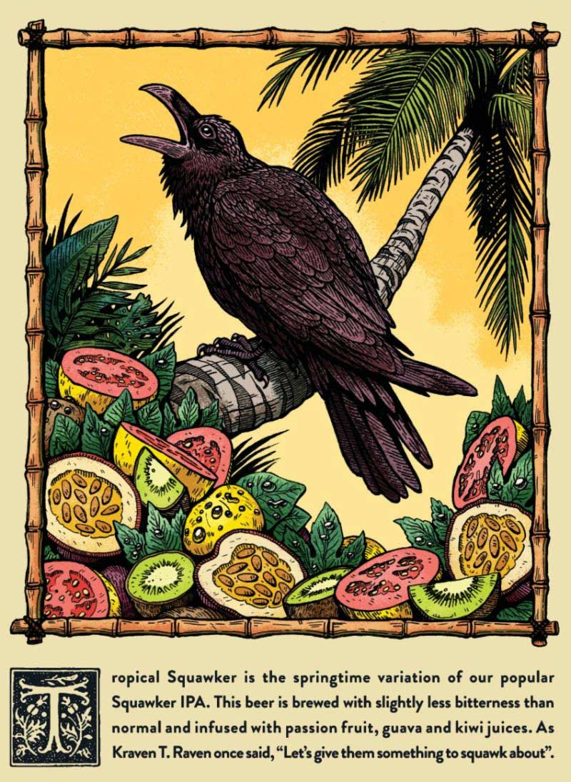 black-raven-tropical-squak