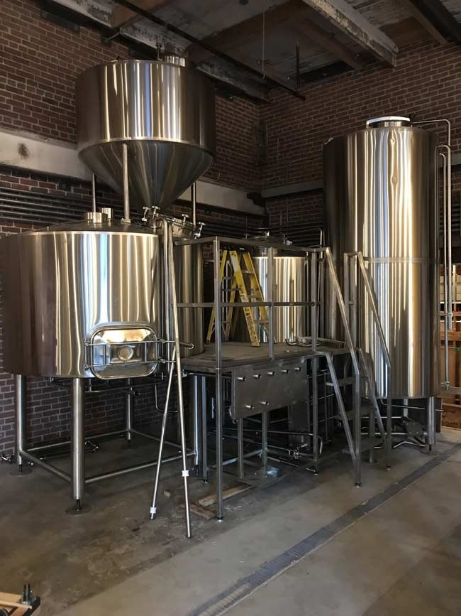 Sparkling new brewhouse.