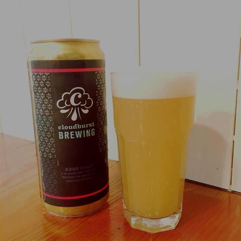 Cloudburst Brewing has earned a reputation for making outstanding Hazy IPAs. Photo from Facebook.