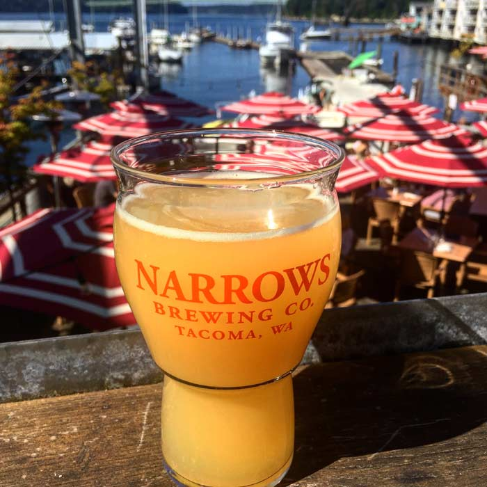 A hazy IPA at Tacoma's Narrows Brewing Company.