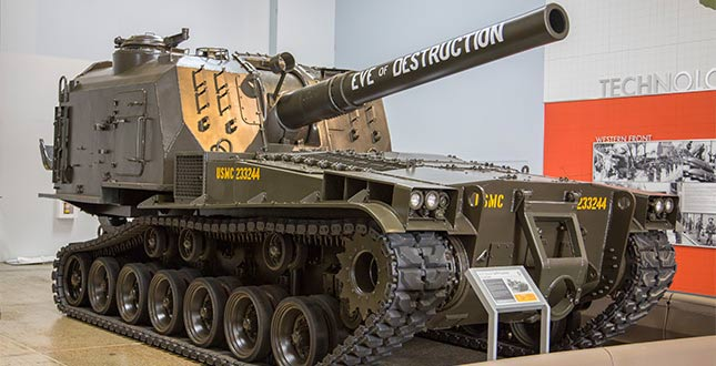 M55 8-inch Self-Propelled Howitzer. Photo courtesy flyingheritage.org.