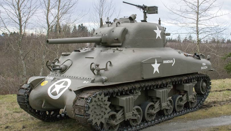M4A1 Sherman Medium Tank. Photo courtesy flyingheritage.org.