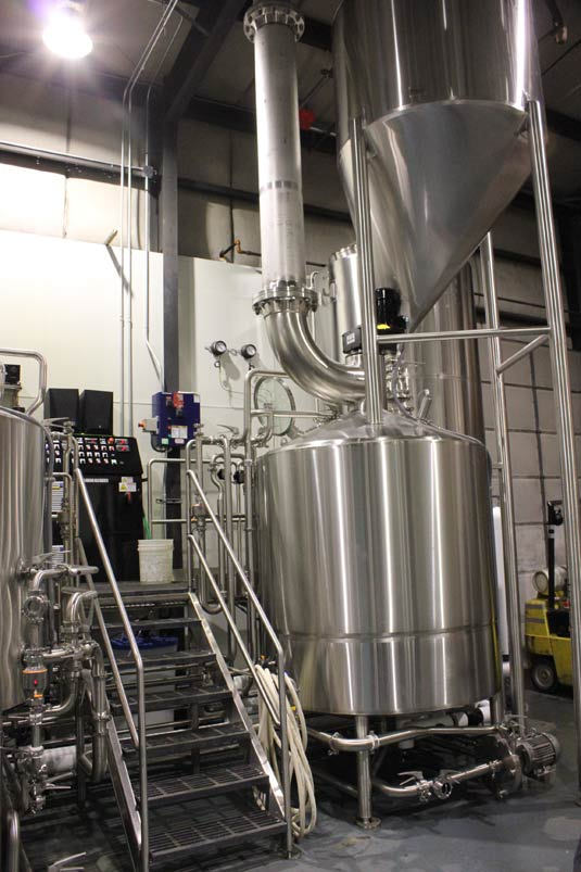 The steam-fired, 20-bbl brewhouse was built to Kevin Watson's exacting specifications.