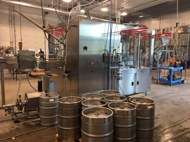 New canning line at Icicle Brewing. One of the places where CO2 is used.