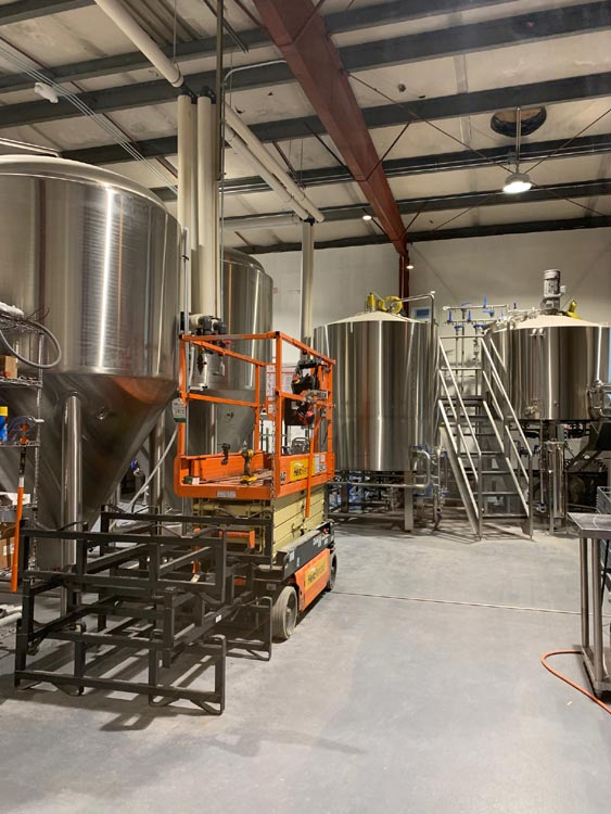 15-barrel brewhouse from North Coast Metal Design and Fabrication.