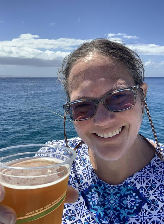 A half-day snorkeling charter trip - local beer on tap.