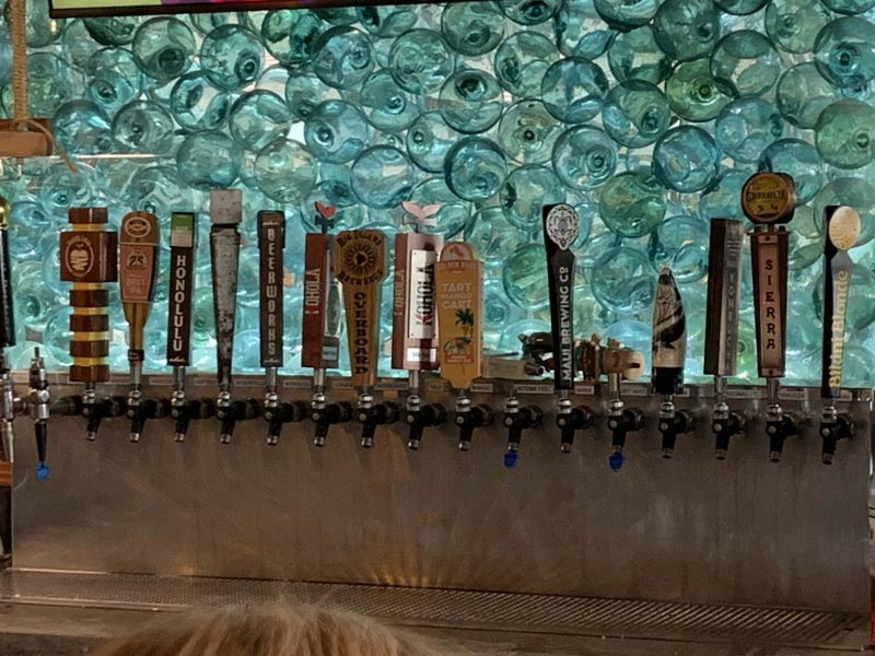 Taps at Monkeypod Kitchen.