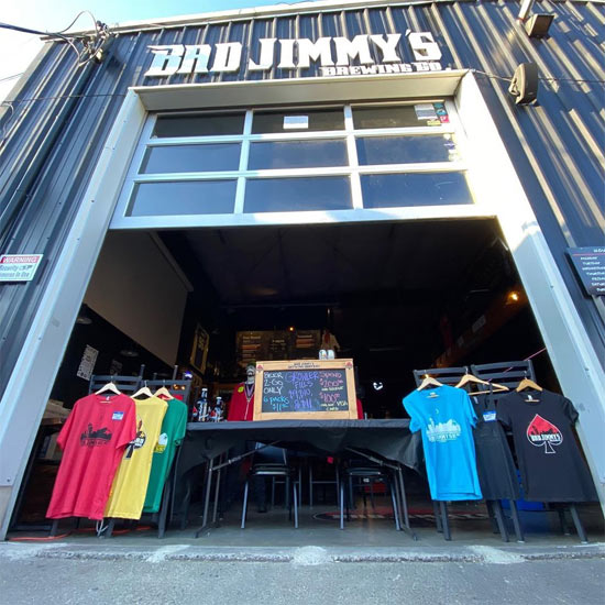 To-go beer station at Bad Jimmy's Brewing in Seattle. (From Facebook.)