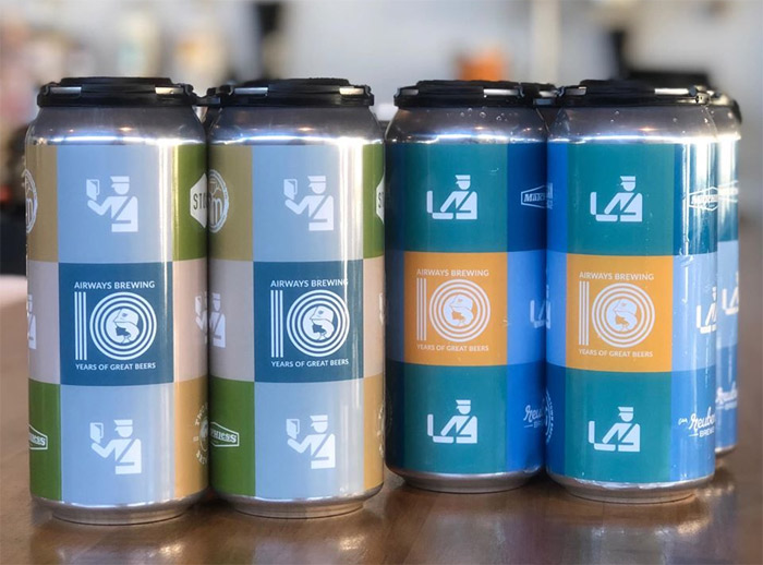 Airways Brewing had to cancel its anniversary party, but still got its two anniversary beers into cans.