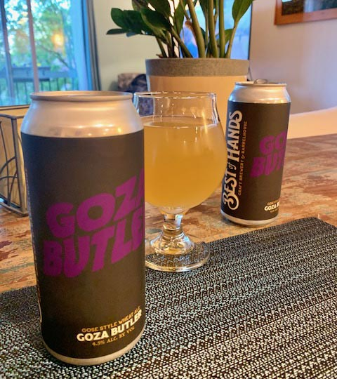 goza butler - a gose from Best of Hands Brewery, an homage to Geezer Butler and Black Sabbath.