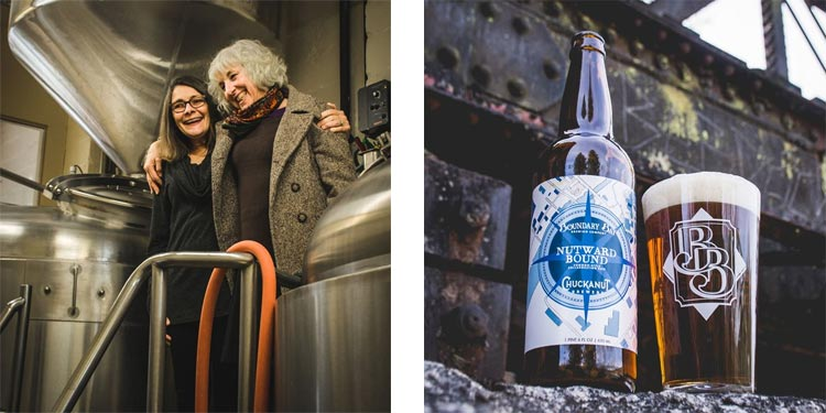 boundary bay brewery and chuckanut brewery collaborate for Nut Bound common-style ale