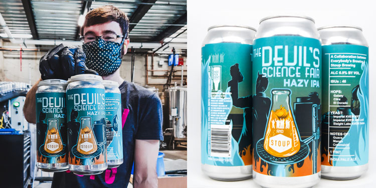 everybody's brewing, stoup brewing introduce devil's science fair IPA.