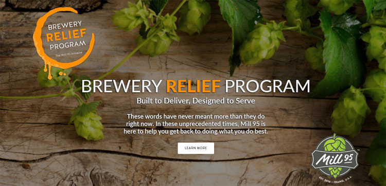 mill 95 - idaho hop producer offering assistance for impacted breweries