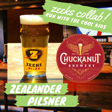 zeeks pizza collaboration beer with chuckanut brewery