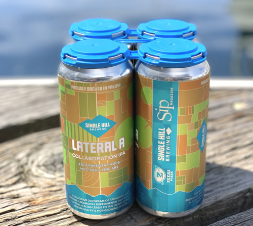 Lateral A IPA in 16-ounce cans.