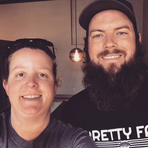 Karissa and Tyler. Owners of Pretty Fair Beer Company, a beer bar in Ellensburg, Washington