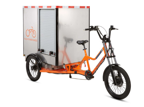 The Rad burro, commercial electric trike from Rad Power Bikes.