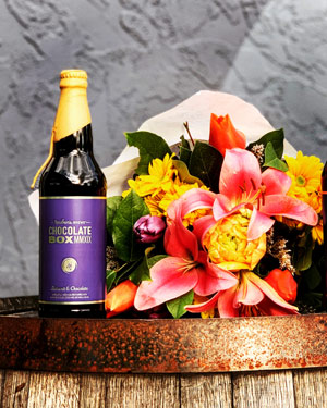 reuben's brews - chocolate and flowers.