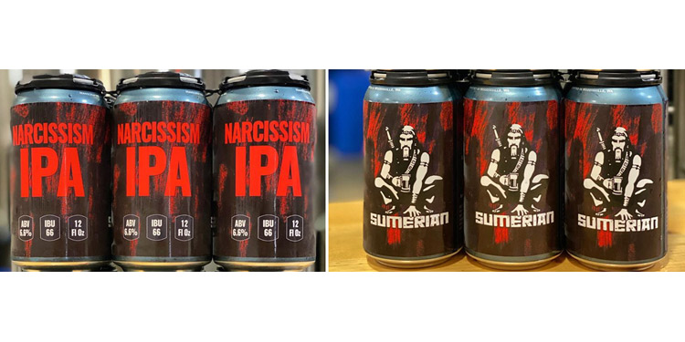 sumerian brewing - cans of narcissism ipa