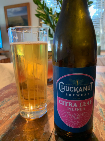 Citra Leaf Pilsner by Chuckanut Brewery.