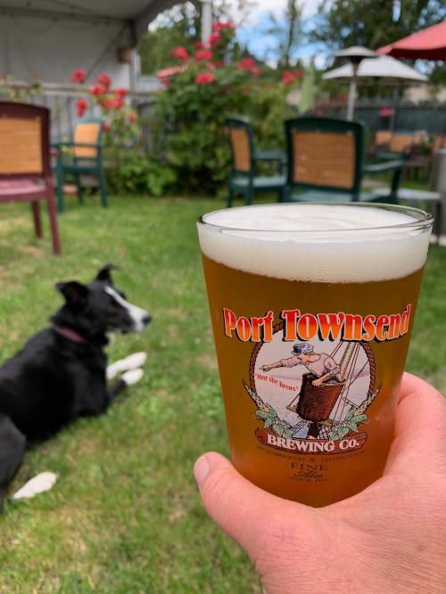 Beer garden at Port Townsend Brewing.