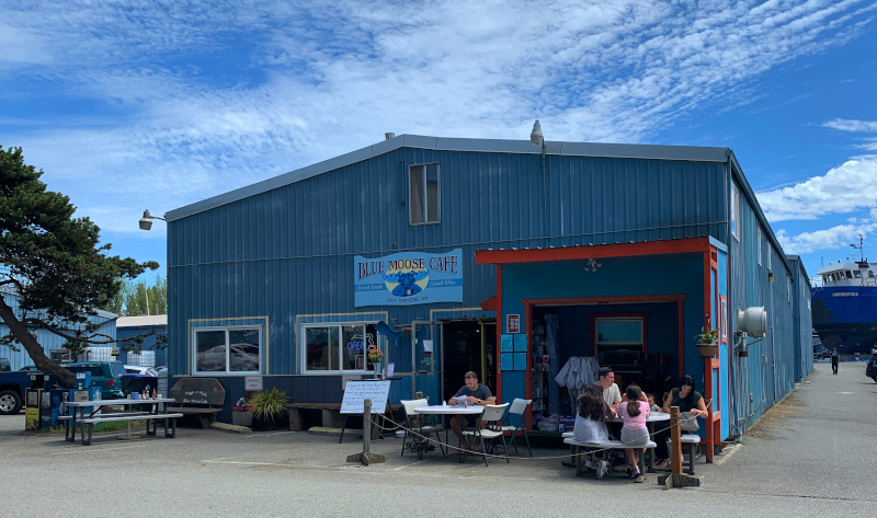 Blue Moose Cafe at the boatyard in Port Townsend, WA.