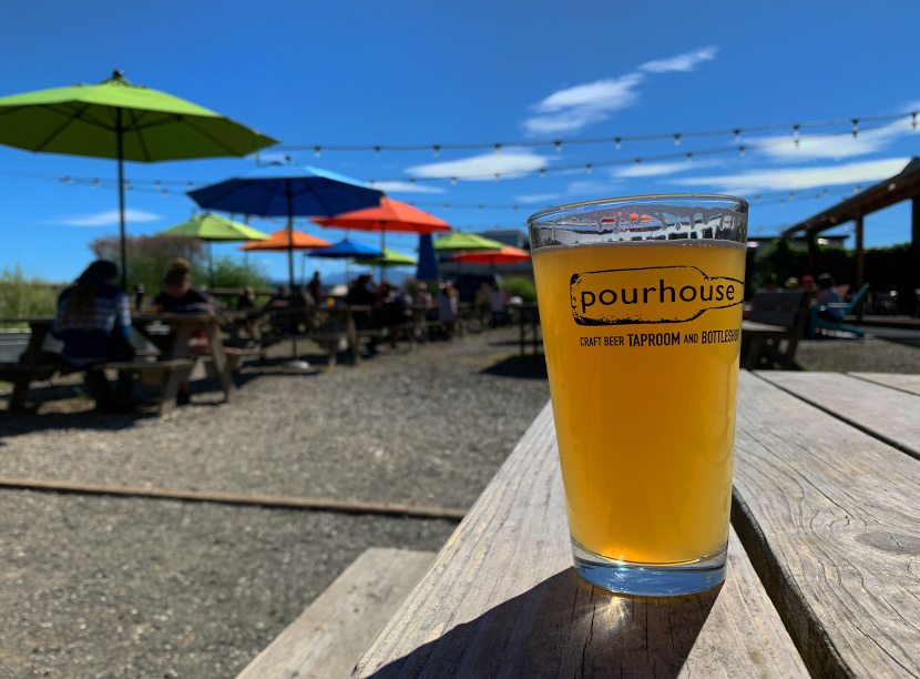 The Pourhouse beer garden in Port Townsend, WA.