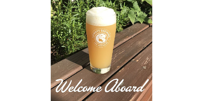 welcome aboard ipa from airways brewing.