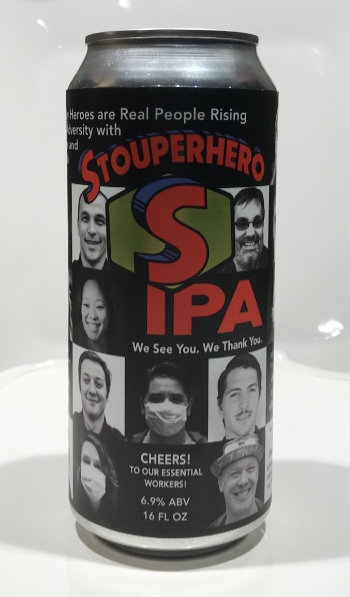 Stoup Brewing Stouperheroes IPA version one can.