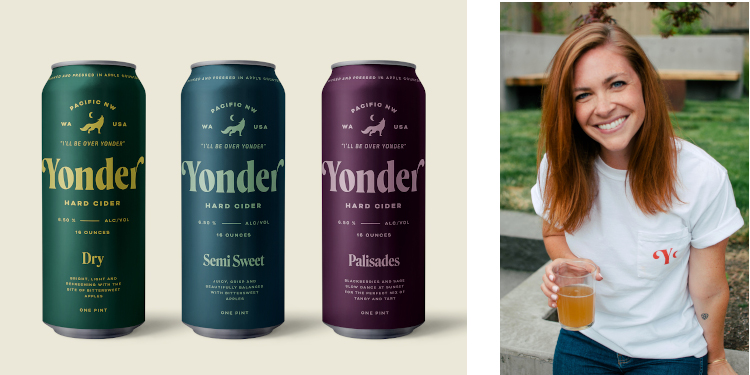 Caitlin Braam, president of Yonder Cider Company.