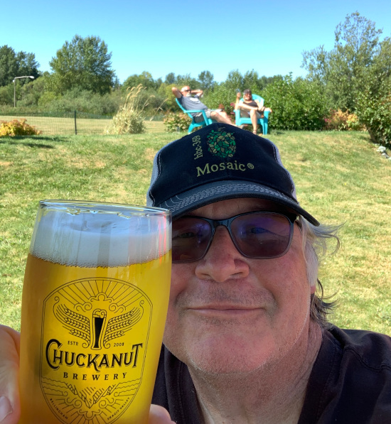 A selfie at Chuckanut Brewery's South Nut location.