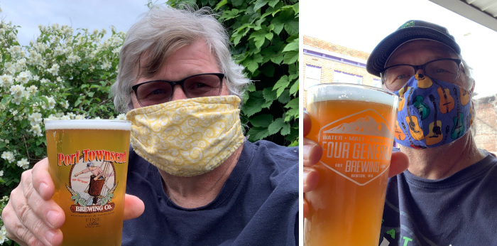 Beer and masks in our COVID world.