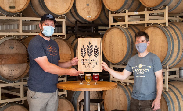 Seattle's Lantern Brewing, the first Skagit Malting customer to display the seal.