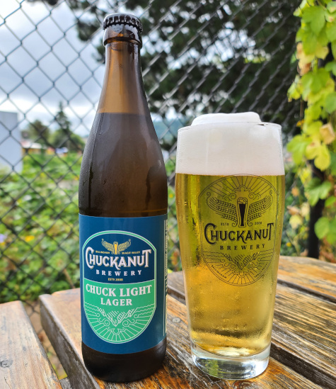 Chuck Light from Chuckanut Brewery, a low calorie craft lager.