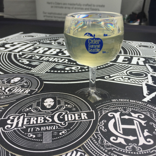 One of the great ciders I discovered at Cider Summit: Herb's Cider from Bellingham.